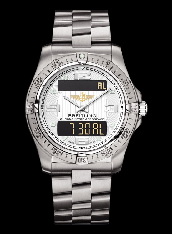 Breitling Professional Aerospace Watch Stratus Silver Dial