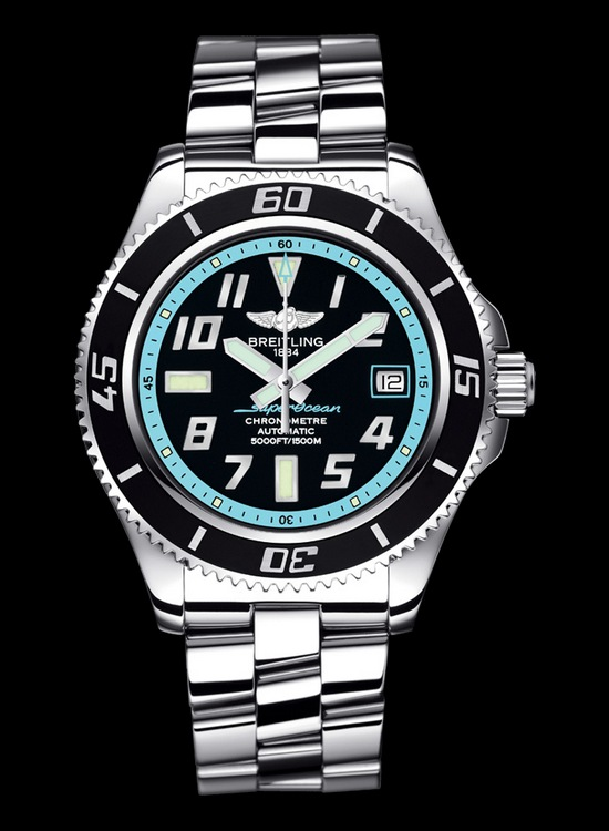 Breitling Superocean 42 Watch Abyss Turquoise Dial