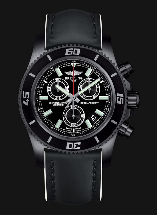 Breitling Superocean Chronograph M2000 Blacksteel Watch