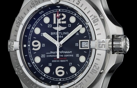 mens heritage watches silver superocean dial breitling itm watch