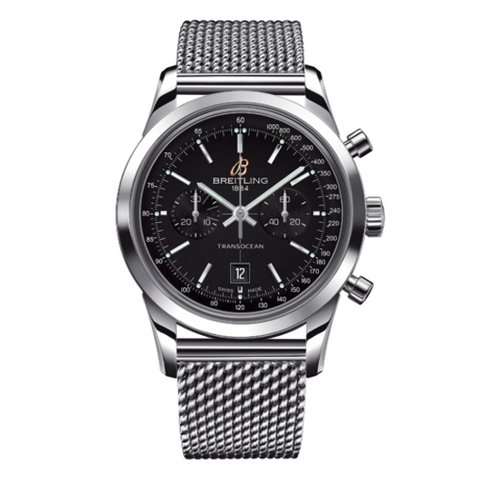 Breitling Transocean Chronograph 38 Watch Deep Black