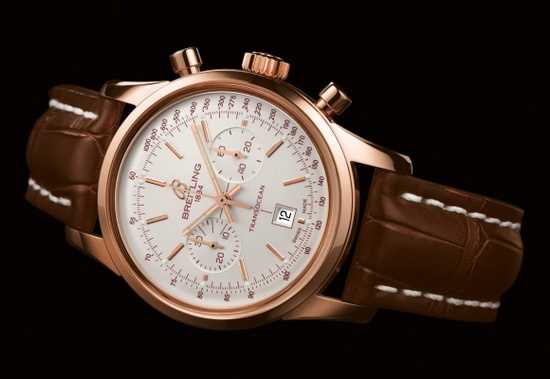 Breitling Transocean Chronograph 38 Watch Glowing Silver