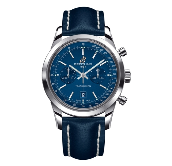 Breitling Transocean Chronograph 38 Watch Midnight Blue