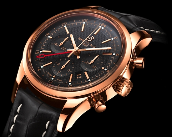 Breitling Transocean Chronograph GMT Watch Black