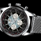 Breitling Transocean Chronograph Unitimer Watch Stainless Steel Black Dial