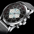 Breitling Transocean Chronograph Unitimer Watch Stainless Steel