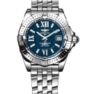 Breitling Windrider Cockpit Lady Stainless Steel Watch Red Blue A7135612 C753
