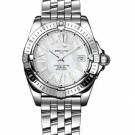 Breitling Windrider Cockpit Lady Stainless Steel Watch Silver A7135612 A656