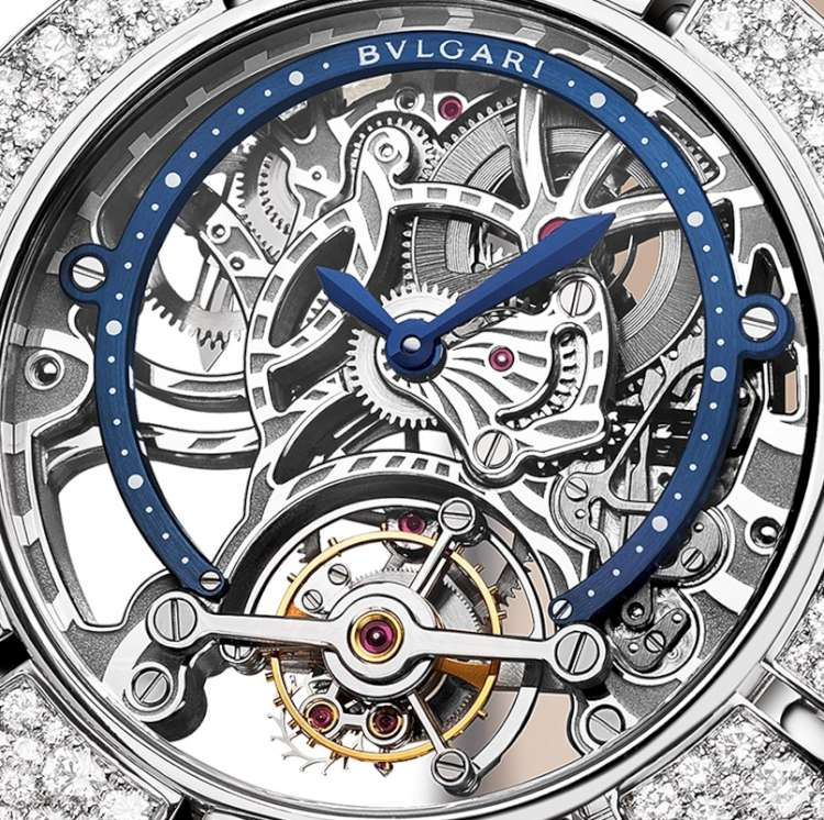 Bulgari Serpenti Incantati Skeleton Tourbillon Lumière Watch Dial