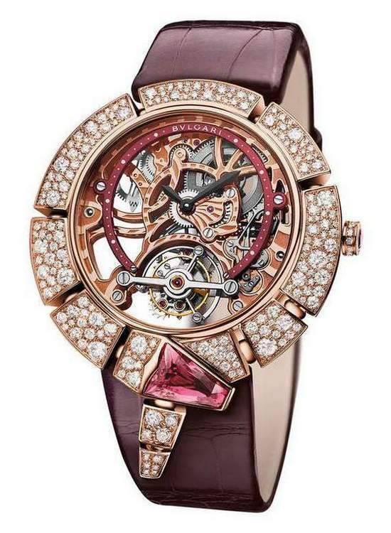 Bulgari Serpenti Incantati Skeleton Tourbillon Lumière Watch Rose Gold