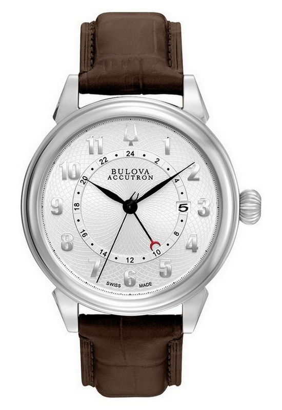 Bulova Accutron Gemini GMT Watch 63B153