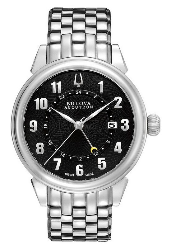 Bulova Accutron Gemini GMT Watch 63B154