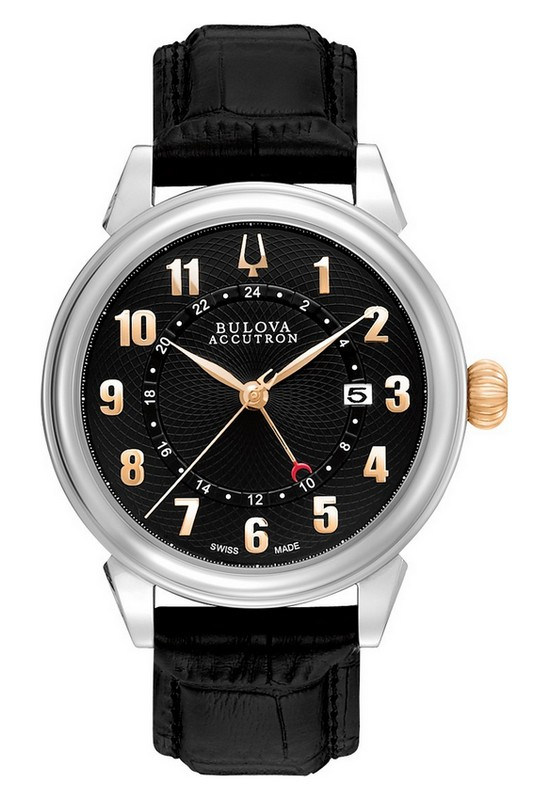Bulova Accutron Gemini GMT Watch 65B145