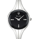Bulova Bangle Black Dial Watch front