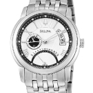 Bulova Dress Dual-Time Sunray Dial Watch 96B110
