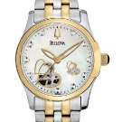 Bulova Mechanical Ladies' Double Heart Motif Round Watch 98P123