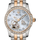 Bulova Mechanical Ladies' Double Heart Motif Round Watch 98R154