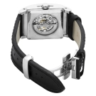 Bulova Mechanical Skeleton Black Dial Square 96A113 Watch back