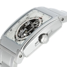 Bulova Mechanical Skeleton White Dial Square 96A107 Watch side