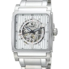 Bulova Mechanical Skeleton White Dial Square 96A107 Watch
