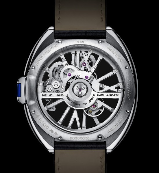 Cartier Clé de Cartier Automatic Skeleton Watch Back
