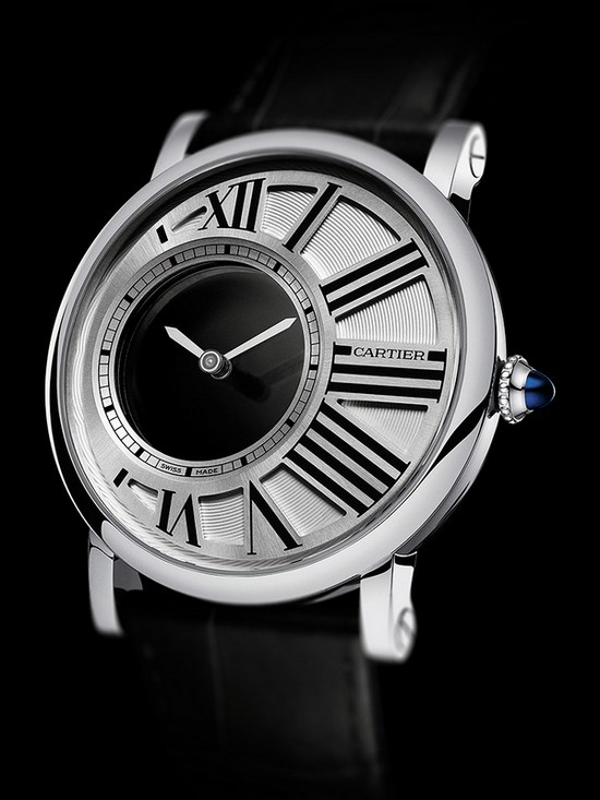 Cartier Rotonde Mysterious Hours Watch White Gold