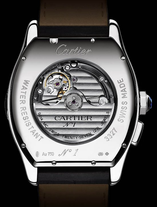 Cartier Tortue XXL Multiple Time Zones Watch Caseback