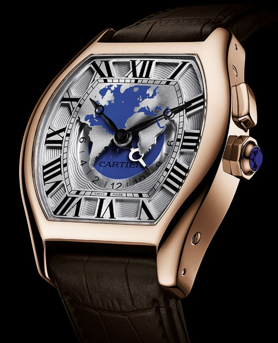 Cartier Tortue XXL Multiple Time Zones Watch Pink Gold