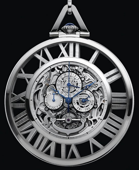 Cartier Skeleton Grand Complication Pocket Watch