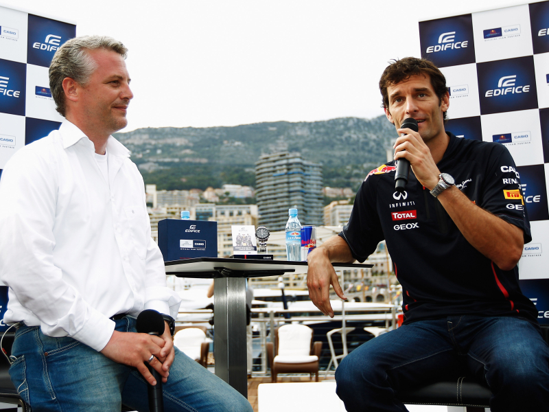 Helms and Mark Webber