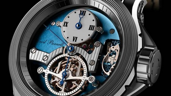 Cecil Purnell Tourbillon Regulator Watch Dial