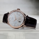 Rolex Cellini Dual Time Everose Silver Dial Watch Side