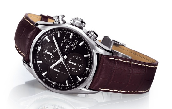 Certina Gent Automatic Collection DS 1 Chronograph Watch with Leather Strap