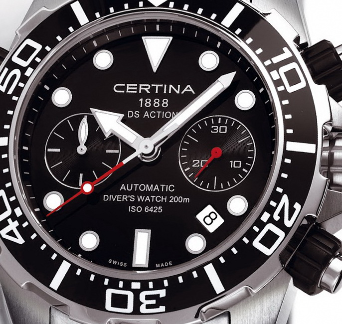 Certina DS Action Diver Automatic Chronograph Watch