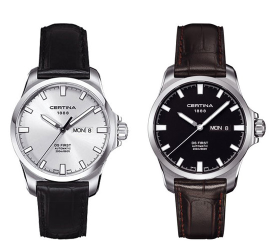 Certina Gent Automatic Collection DS First Day-Date Watches Leather