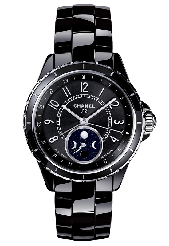 Chanel J12 Moonphase Black Ceramic Watch