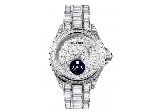 Chanel J12 Moonphase White Gold Ceramic Diamonds Watch