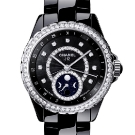 Chanel J12 Moonphase Black Ceramic Diamonds Watch
