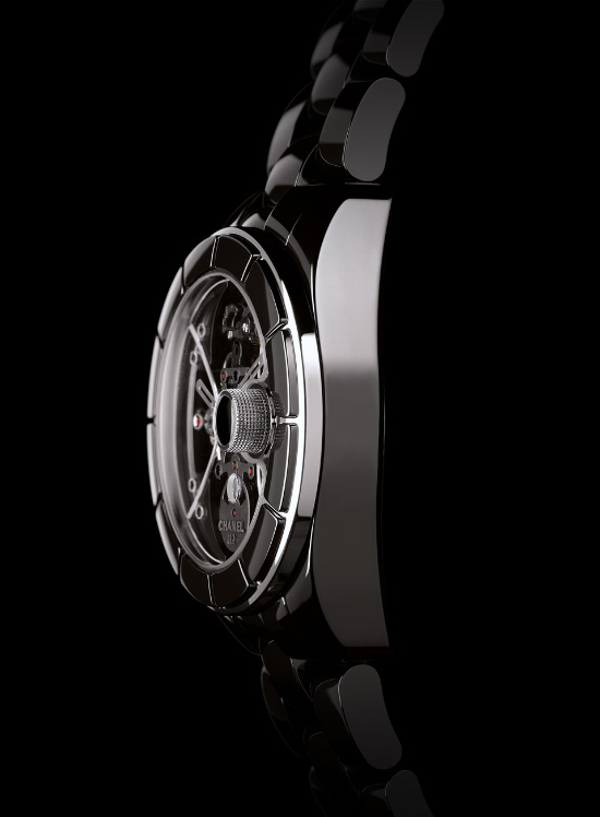 Chanel J12 Retrograde Mysterieuse Tourbillon Watch Side