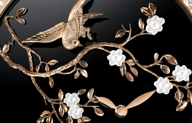 Chanel Mademoiselle Privé Coromandel Flying Birds Watch Detail
