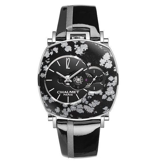 Chaumet Dandy Arty Open Face Snowy Obsidian Watch
