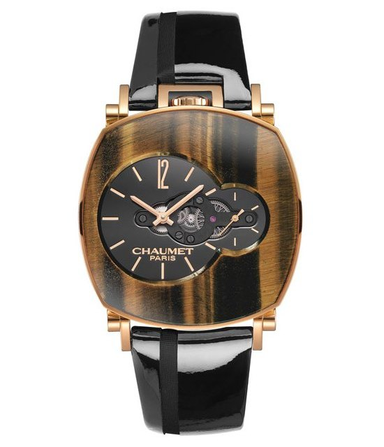 Chaumet Dandy Arty Open Face Tigers Eyes Watch