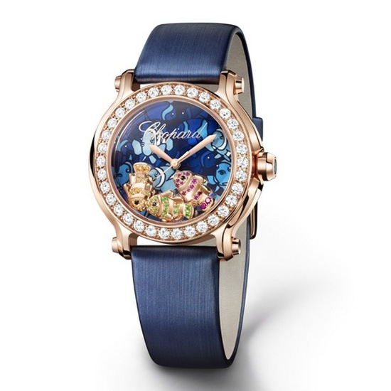 Chopard Happy Fish Watch Rose Gold
