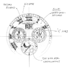 Chopard LUC Lunar One Platinum Watch Sketch