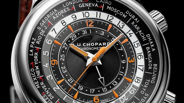 Chopard L.U.C Time Traveler One Stainless Steel Watch Dial
