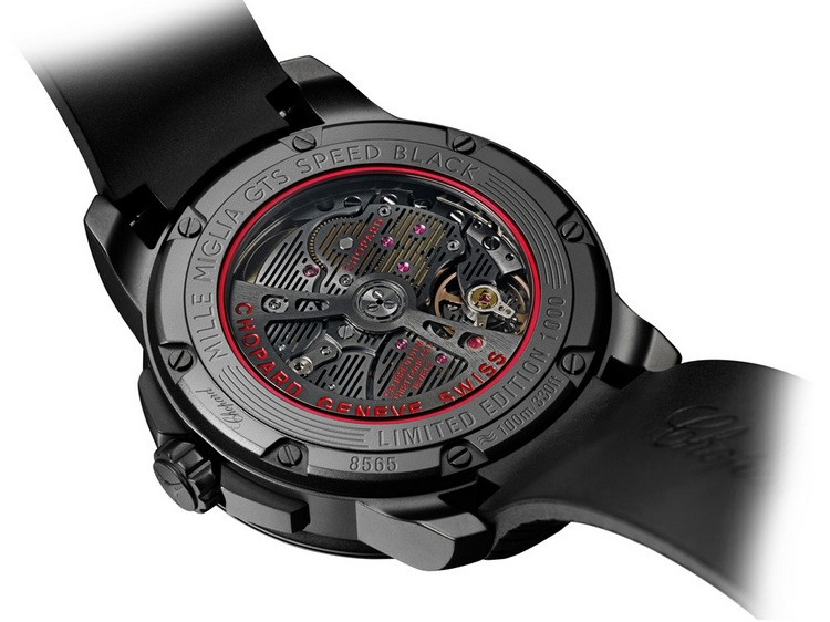 Chopard Mille Miglia GTS Automatic Speed Black Watch Case Back