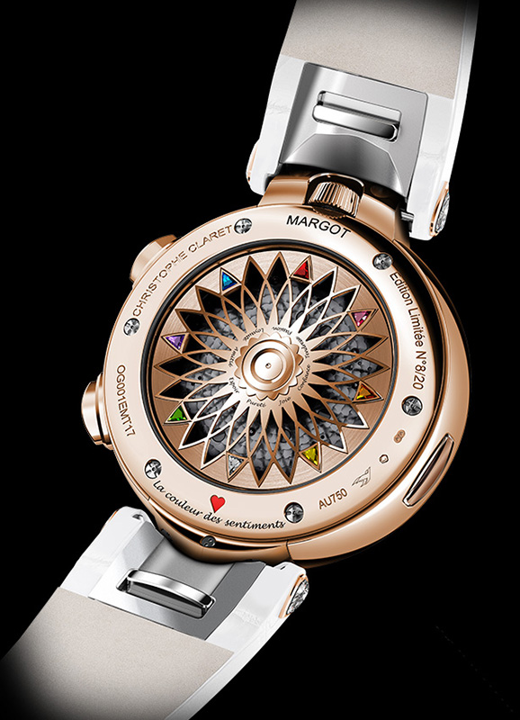 Christophe Claret Margot Red Gold Watch Back