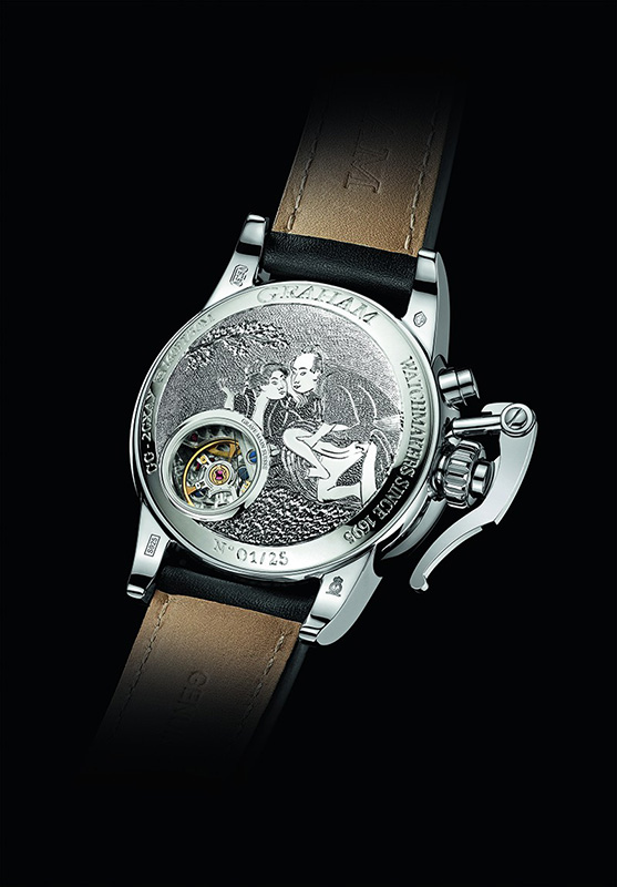 Graham Chronofighter 1695 Erotic Caseback Watch