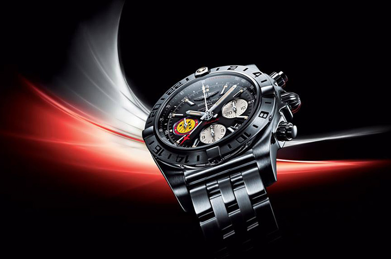 "Breitling Chronomat 44 GMT ""Patrouille Suisse 50th Anniversary"" Watch"