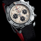 Breitling Chronomat Airborne 41 Silver Dial Watch Front